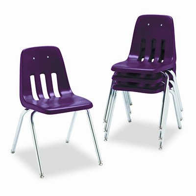 - 9000 Series Plastic Classroom Chair [Set of 4] Seat Height: 12