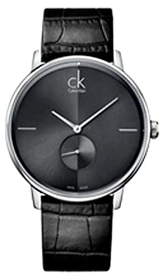 Accent Men's Watch Dial/Strap Color: Grey/Black