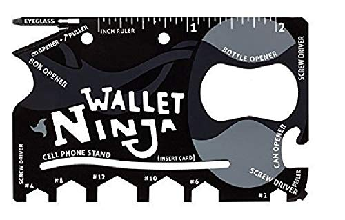 ProtosIndia.Net™ Multipurpose 18 in 1 Ninja Card Swiss Army Wallet Pocket Tool