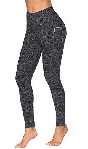 Fengbay High Waist Yoga Pants, Pocket Yoga Pants Tummy Control Workout Running 4 Way Stretch Yoga Leggings (X-Small, 9622 Black)