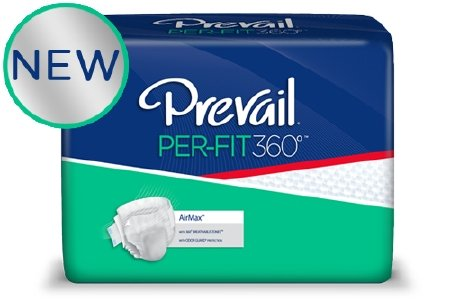 - Prevail Per-Fit 360 Degree Maximum Plus Absorbency Incontinence Briefs, Size 3, 60 Count