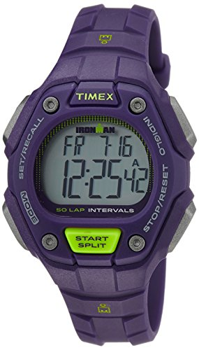 Timex Women s TW5K93500 Ironman Classic 50-Lap Purple Resin Strap Watch