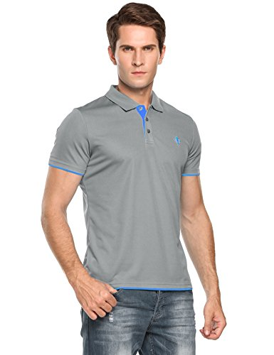 Wholesale COOFANDY Men's Casual Short Sleeve T-Shirt Contrast Color Polo Shirts for sale