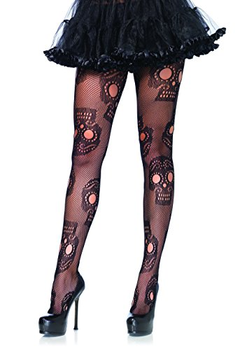 Leg Avenue Womens Sugar Skull Fishnet