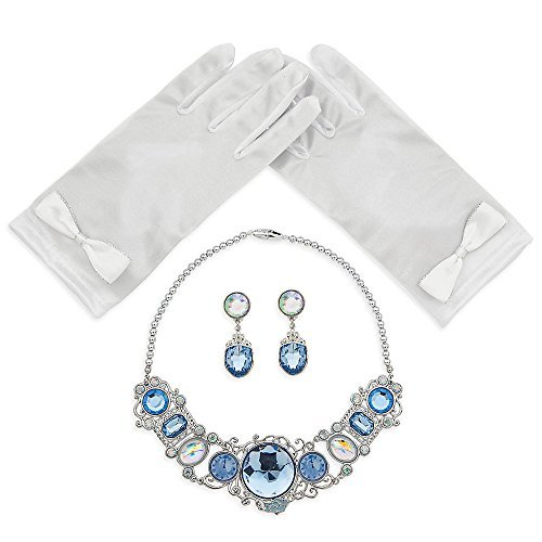 [Cinderella Costume Accessory Set For Children necklace gloves and earrings] (Cinderella Play Costumes)