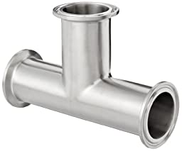 Dixon B7MP-R150 Stainless Steel 316L Sanitary Fitting, Clamp Tee, 1-1/2\