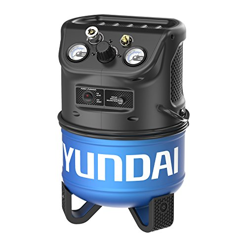 Hyundai HHC2GNK 2 Gal. Vertical Style Electric Air Compressor with 2-in-1 Brad Nailer/Stapler
