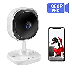 Wireless Security Camera Wandwoo Wifi Ip Camera With 1080p Full Hd 2 Way Audio 180 Fisheye Panoramic Security Camera Support Night Vision Motion Detection For Baby Elderly Pet Nanny Monitor White