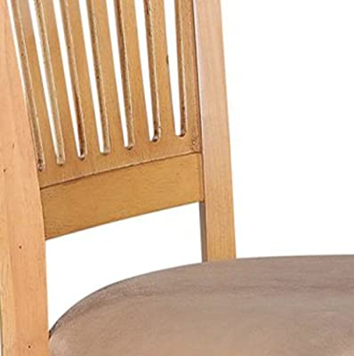 East West Furniture Microfiber Upholstered Seat Dining Chairs