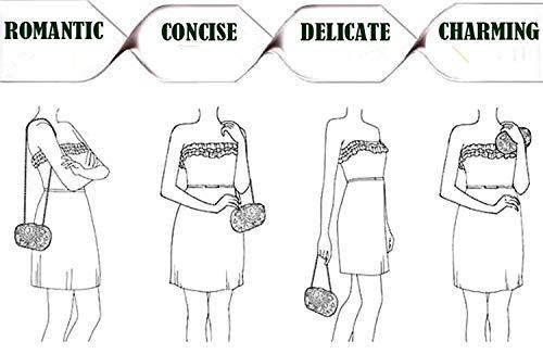 vrouwen Yisaesa kralen trouwen D met kwast tas diner tassen koppeling voor avond avondfeest en rrvBqgx