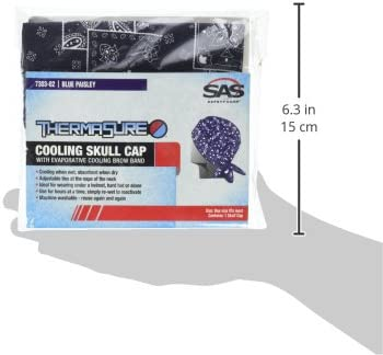 Blue Paisley SAS Safety 7303-02 ThermaSure Cooling Skull Cap