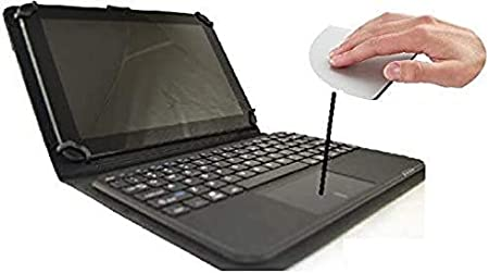 Funda con Teclado extraíble Bluetooth con Touchpad (ratón) para Tablet Bq Aquaris E10 10.1