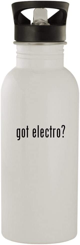 got electro? - 20oz Stainless Steel Water Bottle, White