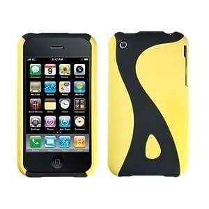 Logotrans Snake Series - Carcasa rígida de color amarillo y protector de pantalla para iPhone 3G y 3GS