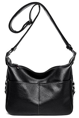 Women's Retro Shoulder Bag Hobo Double Zipper Crossbody Handbag from Dreubea