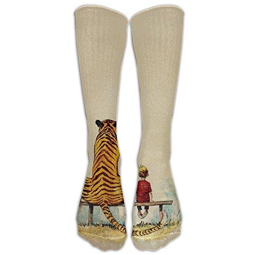 Calvin And Hobbes Over-the-Calf Tube Socks Stockings For Men And Women - Running & Fitness - Best Medical, Nursing, Travel & Flight Socks