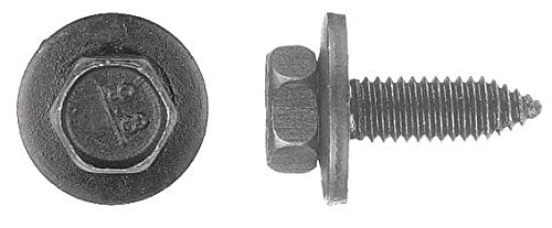 20mm Steel Bolt with Hex Washer Head Type and Black Phosphate Finish