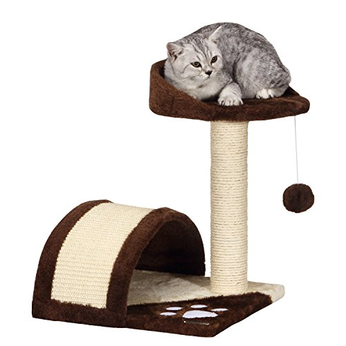 Ollieroo Cat Tree Scratching Post Furniture Play House Pet Bed Kitten Toy Cat Condo, Small