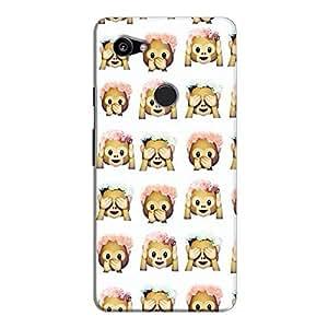 Cover It Up - Flower Monkey Stickers Pixel 2 XLHard Case