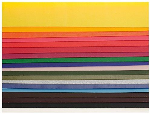 GLOREX 6 8616 003 Verzierwachsplatten farbig, 200 x 40 mm, 20 Stück, sortiert