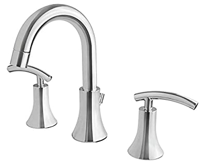 Ultra Faucets UF55310 Contemporary Collection Two-Handle Widespread Bathroom Sink Faucet, Chrome