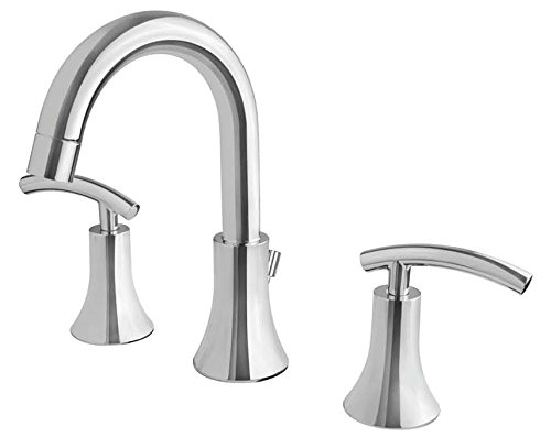 Ultra Faucets UF55313 Contemporary Collection Two-Handle Widespread Bathroom Sink Faucet, Brushed Nickel durable modeling