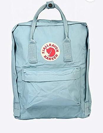 Mochila Top Sell Swedish Fox Classic Fashion Style Bag Fjallraven – Kanken High School Canvas Sports 16 L – azul cielo