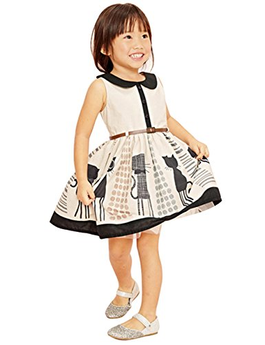- Hotone Lovely Princess Baby Kids Girls Cat Belt Party One-piees Gown Dresses 2-7y (2-3 Years)