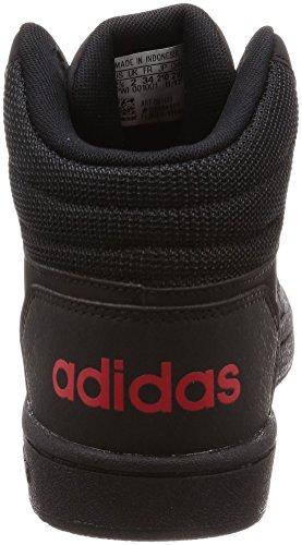 adidas Vs Hoops Mid 2.0, Zapatillas Altas Unisex Niños Negro (Negbas / Rojbas / Negbas 000)