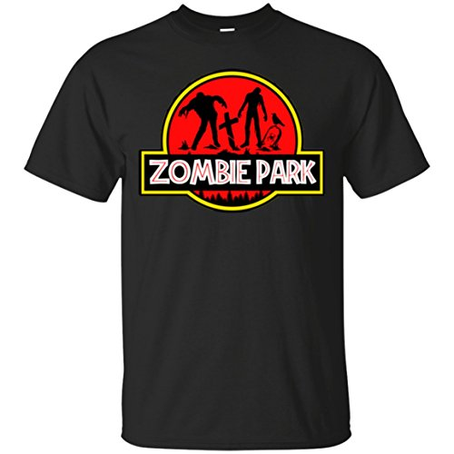 Zombie Park Jurassic Halloween Parody T-Shirt