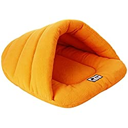 Spring fever Washable Soft Comfort Warm Colorful Pet Bed Dog Puppy Cat House Orange XS (11.015.0 inch)