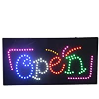 LED Open Neon Sign Super Bright Flashing Animated LED Light Sign for Business Shop Window Decor Electric Advertisement Display Billboard (24 x 12 inches)