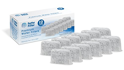 Series Charcoal Filter - Fette Filter - Activated Charcoal Water Filters for Coffee Machines Compatible with Cuisinart DCC-RWF. (Pack of 12)