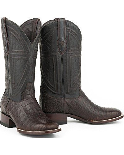 Stetson Mens Caiman Ventre Vamp Western Boot Bout Carré - 12-020-1852-0201 Ta Beige Clair