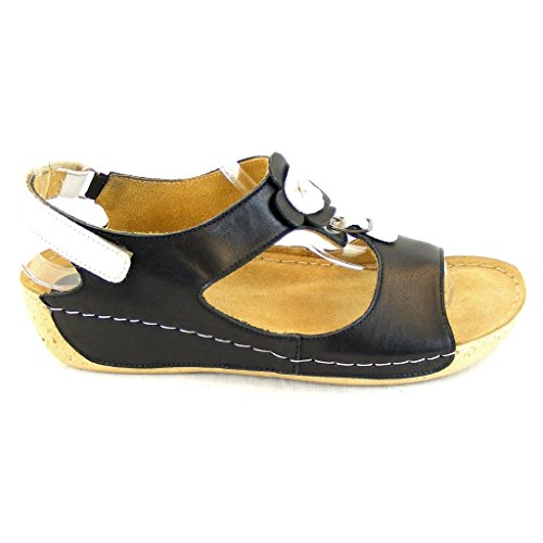 Sandalette Negro Mujer Manitu Baja Manitumanitu Zapatilla Damen qEwFxF8HU