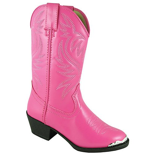 Smoky Mountain Boots Youth Girls Mesquite Hot Pink Faux Leather 7 D ()