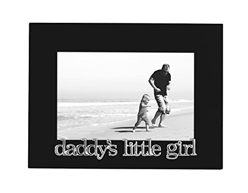 Daddy's Little Girl Picture Frame, Glass Front - Color: Black - Fits Photos 4x6 - Easel Back for Table Top Display (Frames For Girls compare prices)