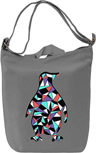 Geometric Penguin Borsa Giornaliera Canvas Canvas Day Bag| 100% Premium Cotton Canvas| DTG Printing|
