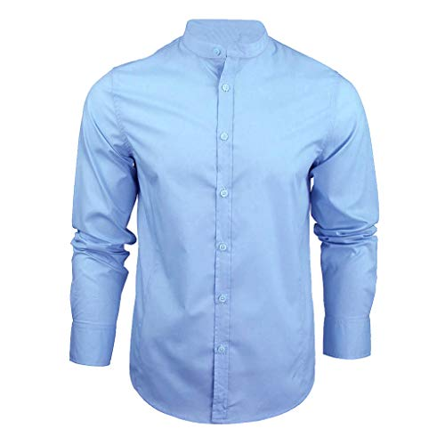Simayixx Tunic Tops for Men Plus Size Men's Casual Dress Shirta Button Down Blouses Fashion Denim Big Tall Pullover Camo Tee ()