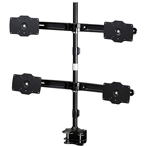 Image of AMER NETWORKS AMR4C32 AMER Mounts Clamp Based Quad Monitor Mount for Four 24'-32' LCD/LED Flat Panel Screens, Black Computers & Accessories