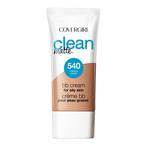 COVERGIRL Clean Matte BB Cream Medium 540 For Oily Skin, 1 oz (Bb Cream For Oily Skin)