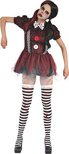 Bristol Novelty Ladies Halloween Fancy Party Creepy Doll Dress, UK Size -