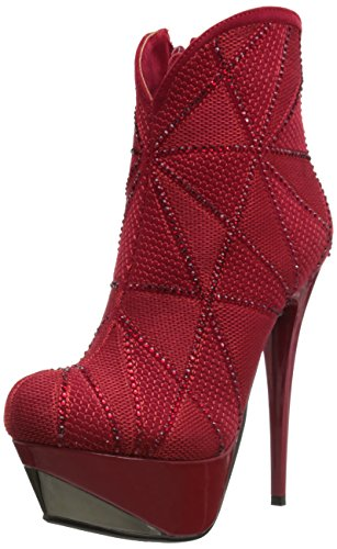 Luichiny Women's Eye Full, Red, 9 M US