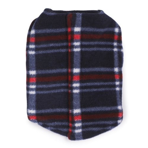 Zack and Zoey Polyester Printed Fleece Dog Ripstop Chest Vest, Plaid, XX-Large, My Pet Supplies