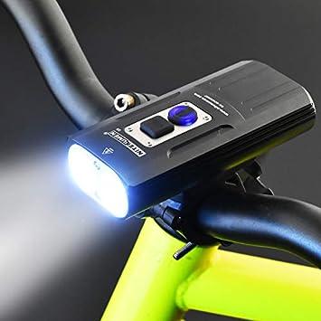 aolongwl Faro de Bicicleta 1800lumens Bicicleta Delantera luz ...