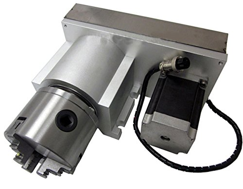 Sunwin CNC 4th Axis Rotary Table A Axis 80MM Chuck F Style Engraving Machine Accessory by Sunwin