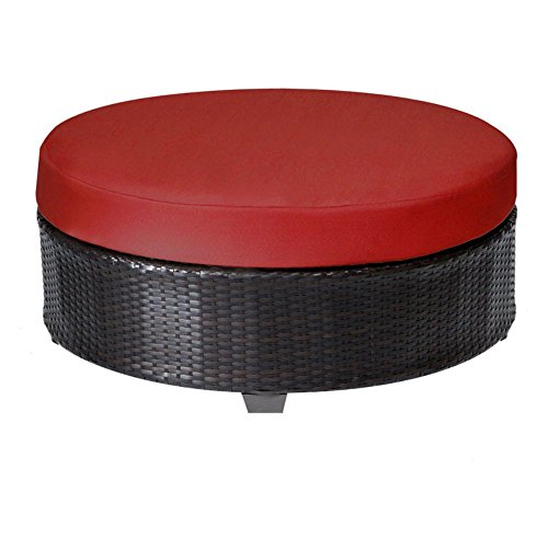 TK Classics TKC020b-CTRND-TERRACOTTA Barbados Round Coffee Table with 2 Covers: Wheat (Del Mar Coffee Table)