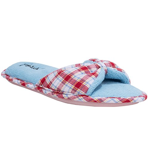 Aerusi  Slippers, Damen Hausschuhe Checker