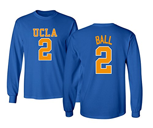 KINGS SPORTS UCLA 2017 Bruins Lonzo Ball 2 College Basketball Men's Long Sleeve T Shirt (Royal,M)]()