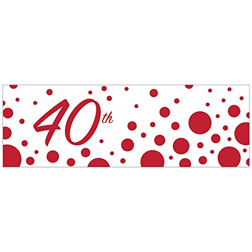Creative Converting 320881 40th Anniversary Giant Party Banner -